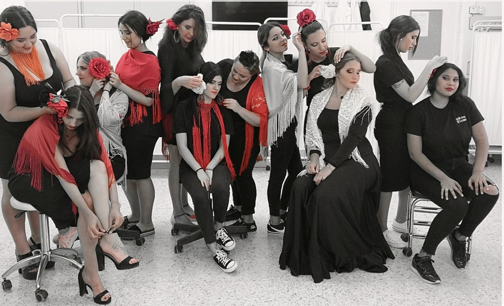 Maquillaje de Pasarela de Flamenca